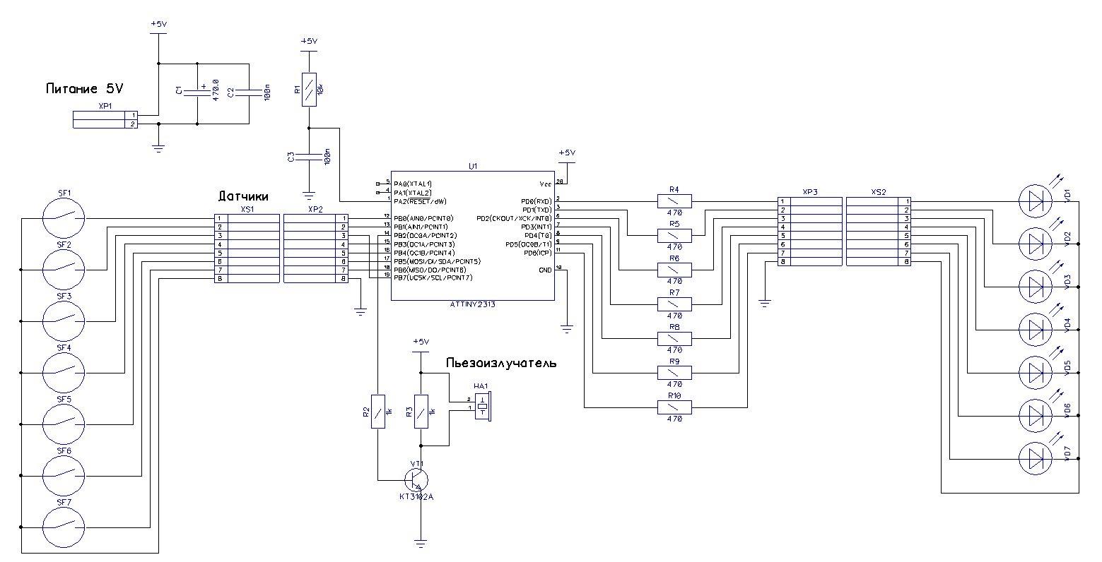 датчик приближения в авто схема электрическая
