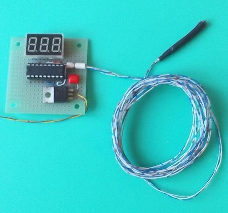 Собранная плата термометра