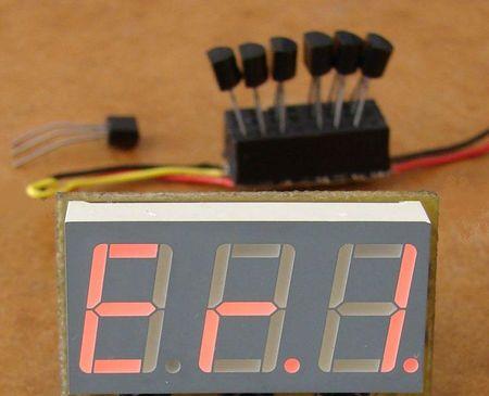 Работа термометра с несколькими датчиками