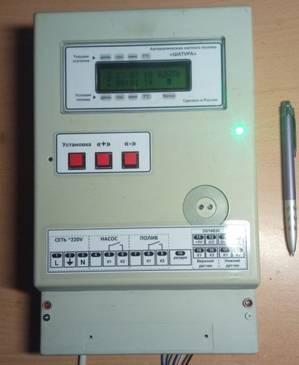 Контроллер автоматической системы полива.