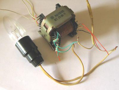 цепь к сети 220 вольт (у