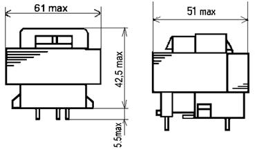Габаритные размеры трансформаторов ТП-125