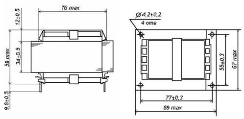 Габаритные размеры трансформаторов ТП-126