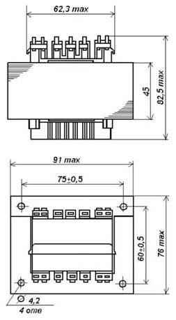 Габаритные размеры трансформаторов ТП-127