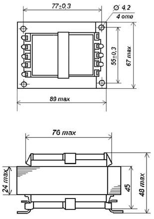 Габаритные размеры трансформаторов ТП-128