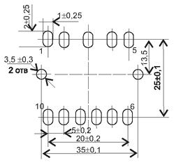 Установочные размеры трансформаторов ТП-122