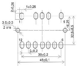Установочные размеры трансформаторов ТП-124