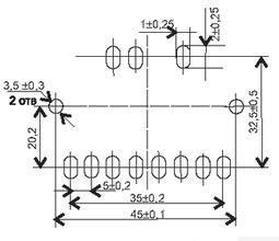 Установочные размеры трансформаторов ТП-125