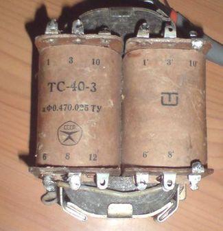 Тс 160 трансформатор схема включения